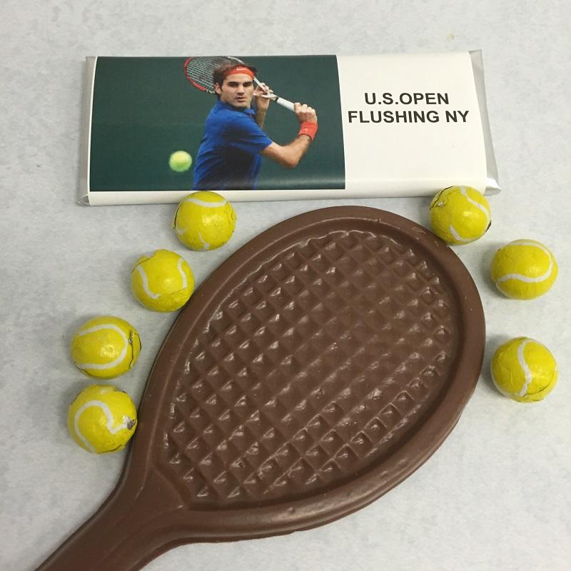 Chocolate Tennis Bar and Racquet