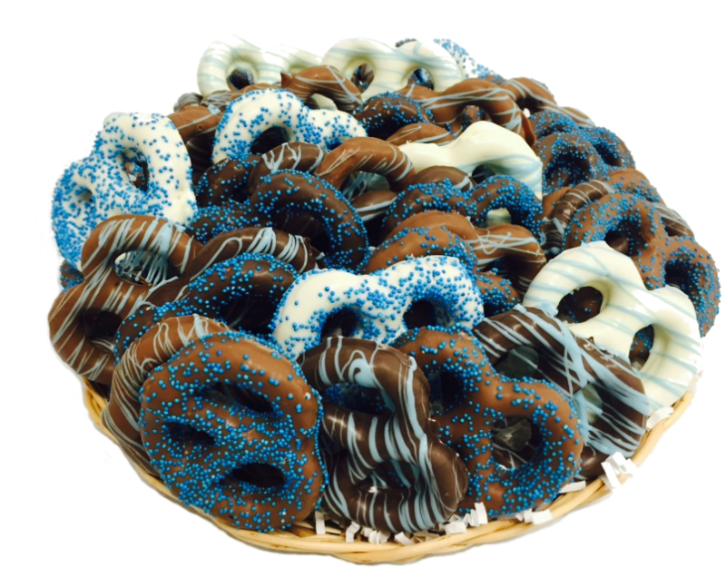 Chocolate Dipped Pretzels Gift Tray